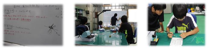 第一回夏休み電子工作教室(半田ごて)